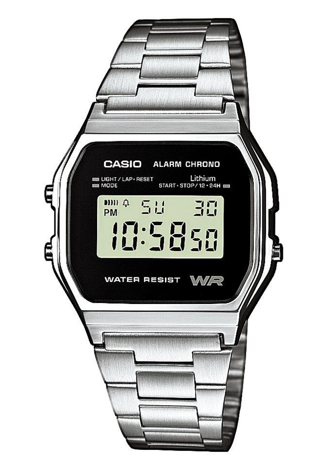 CASIO COLLECTION Alarm Chrono Digitaluhr Casio schwarz