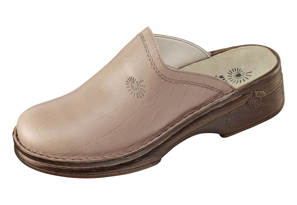 HELIX Helix Leder-Clog mit komfortablem Fußbett mit Kugelferse