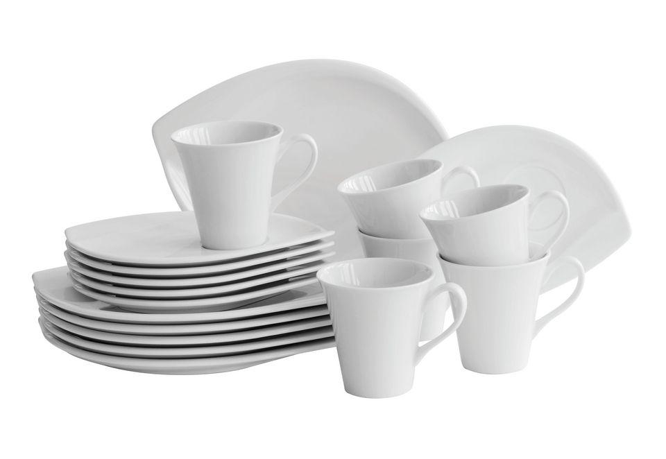 DOMESTIC Domestic Professional Kaffeeservice, Porzellan, »LEAF« (18-teilig)