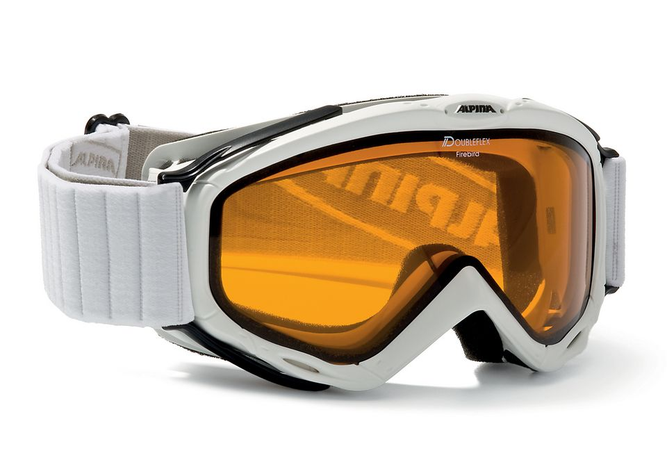 ALPINA SPORT Skibrille weiß, Alpina, »Spice Dhl«, Made in Germany