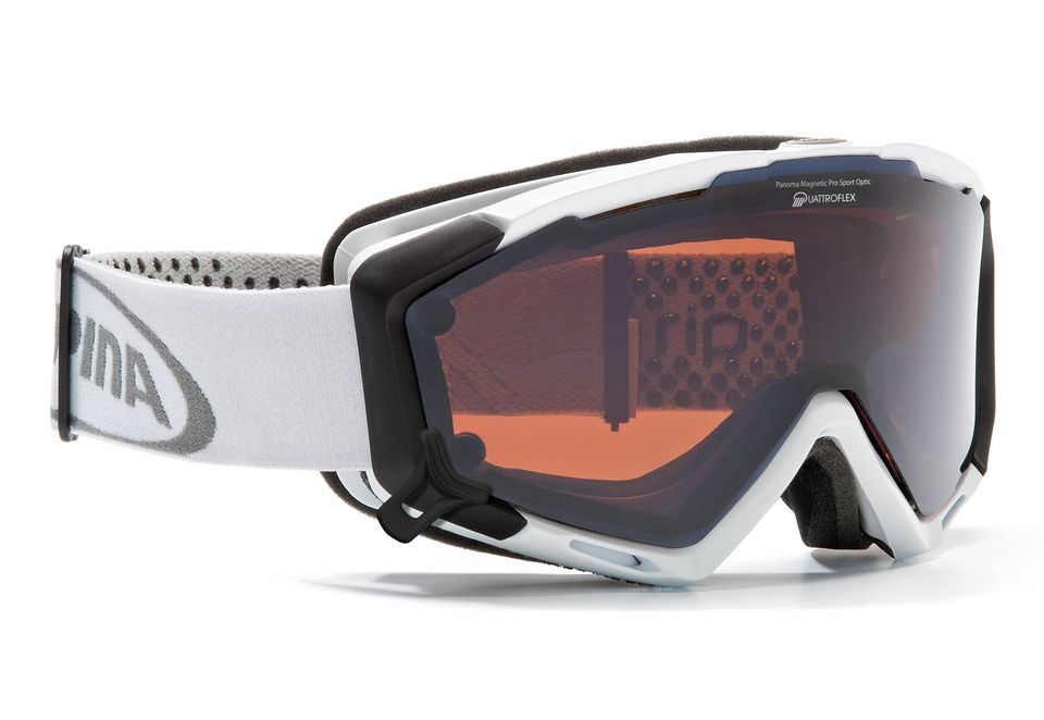 ALPINA SPORT Skibrille weiß, Alpina, »PANOMA S Magnetic«, Made in Germany