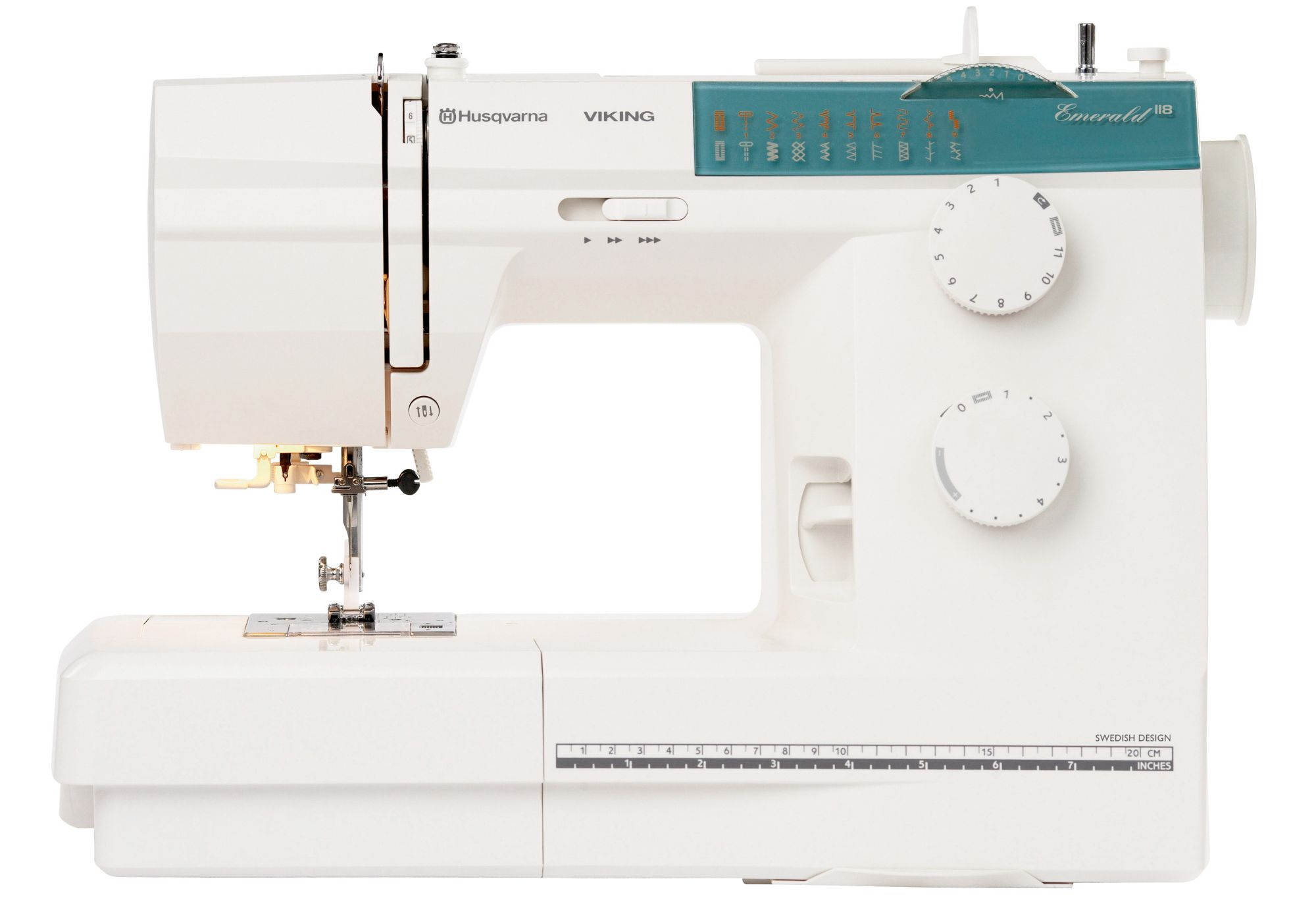 HUSQVARNA VIKING Husqvarna Viking Nähmaschine Emerald 118, 18 Nähprogramme, integrierter Nadeleinfädler