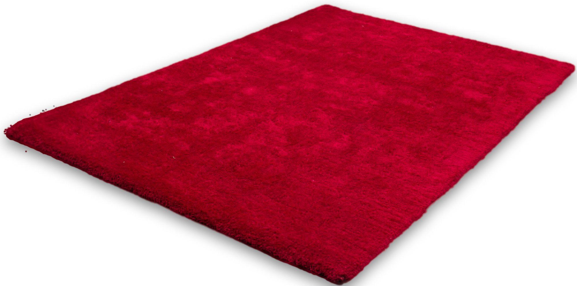 Hochflor-Teppich, Lalee, »Velvet«, Höhe ca. 25mm, hangearbeitet