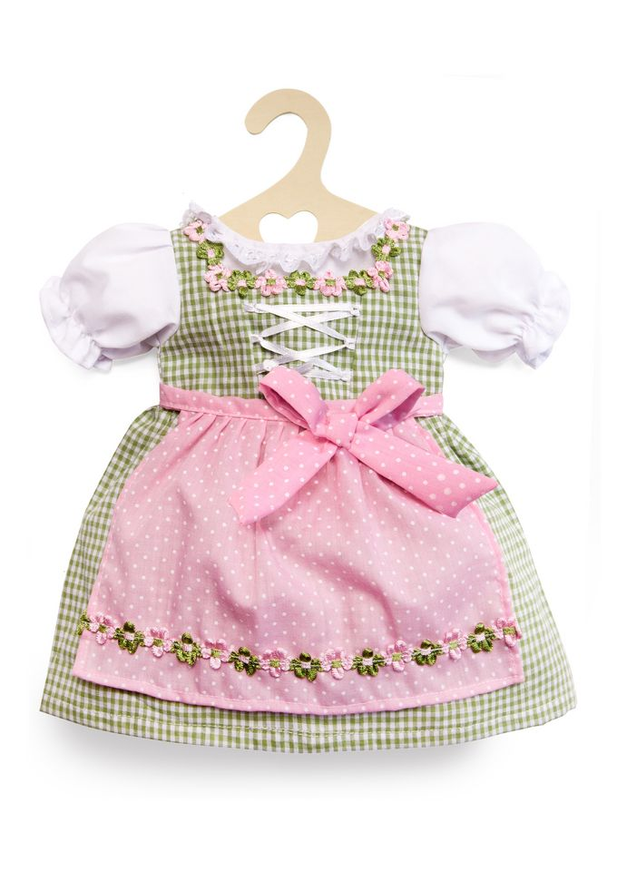 HELESS® Heless® Puppenkleidung Größe 35-45 cm »Dirndl grün-rosa«