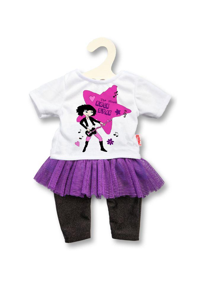 HELESS® Heless® Puppenbekleidung (3tlg.) Größe 28-35 cm o. 35-45 cm »Kleiderset Rockstar«