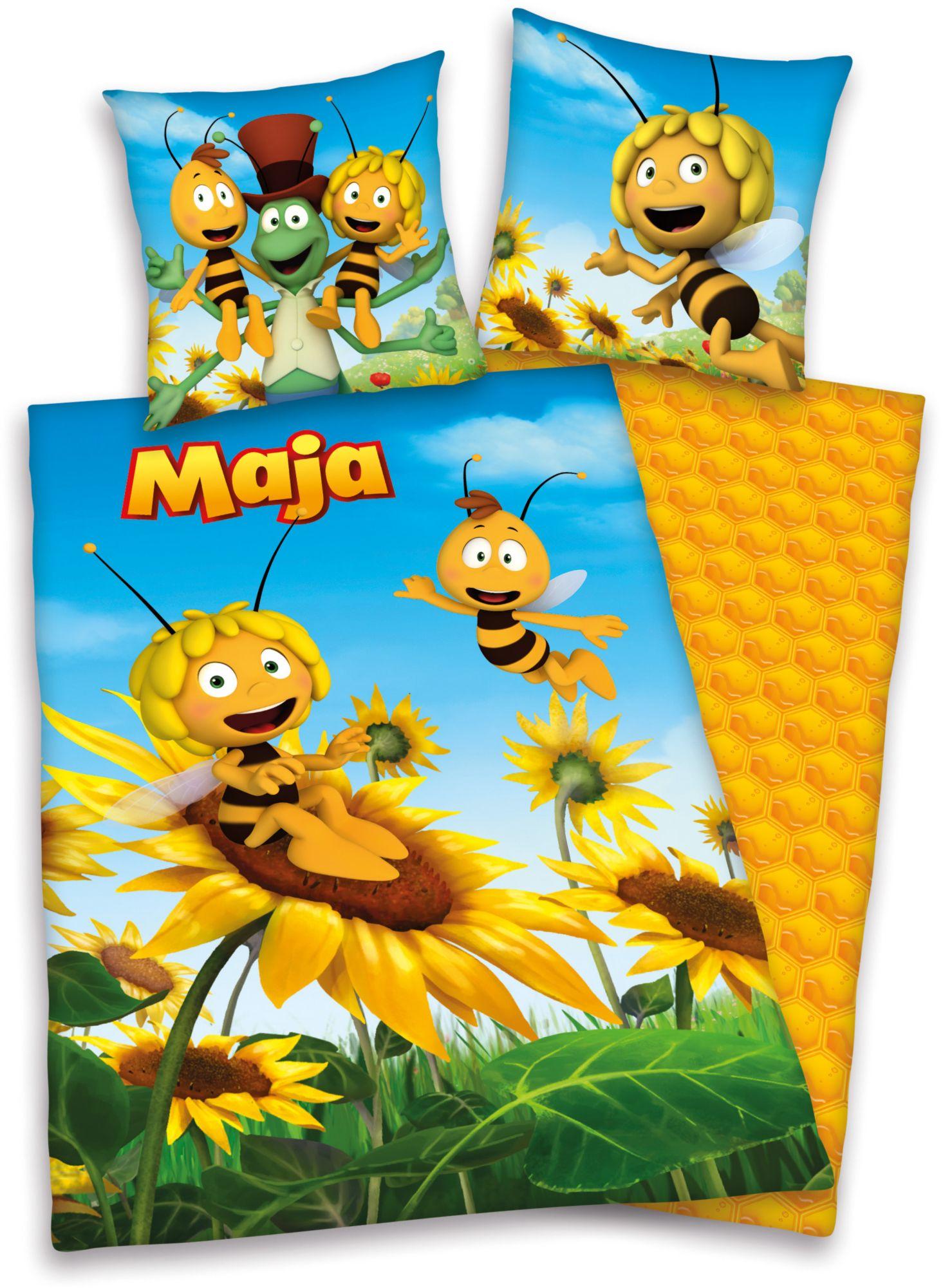 BIENE MAJA 2tlg. Bettwäsche 'Biene Maja ' Herding gelb