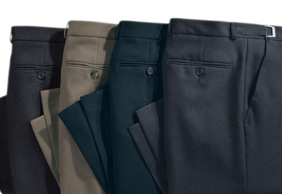 CLASSIC BASICS Classic Basics Hose mit gepflegten Bügelfalten vorne und hinten