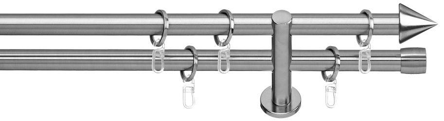 INDEKO Gardinenstange, Indeko, »Brig«, 2-läufig, im Fixmaß, ø 20 mm