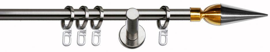 INDEKO Gardinenstange 1-läufig im Fixmaß ø 16 mm, Indeko, »Thun«