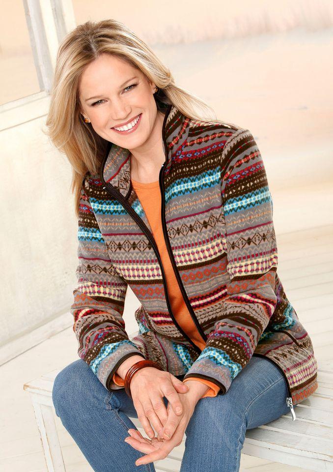 CLASSIC BASICS Classic Basics Fleece-Jacke mit schützendem Stehkragen