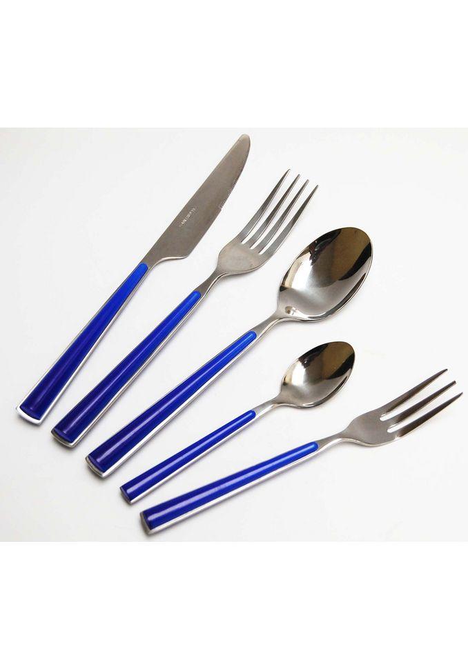 DOMESTIC Besteckgarnitur, Domestic, »Shiny«, in Blau (24tlg.)
