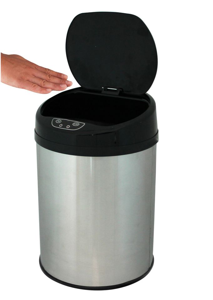 ECHTWERK Edelstahl-Kosmetikabfalleimer, , »INOX BRUSHED«, mit Infrarotsensor, 9 Liter