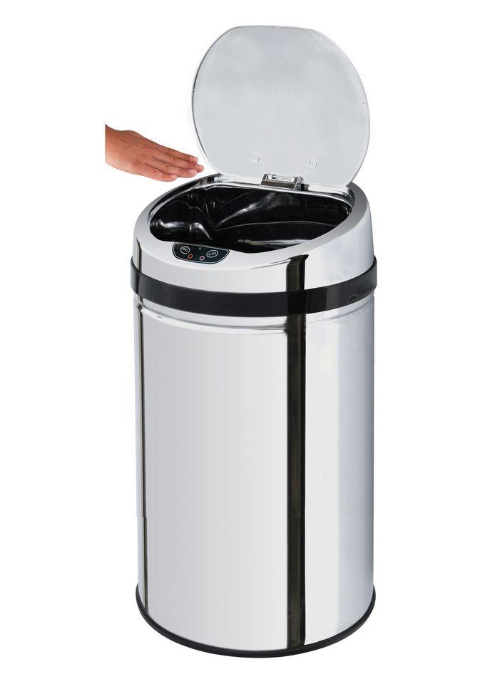 ECHTWERK Edelstahl-Abfalleimer, , »INOX«, mit Infrarotsensor, 30 Liter