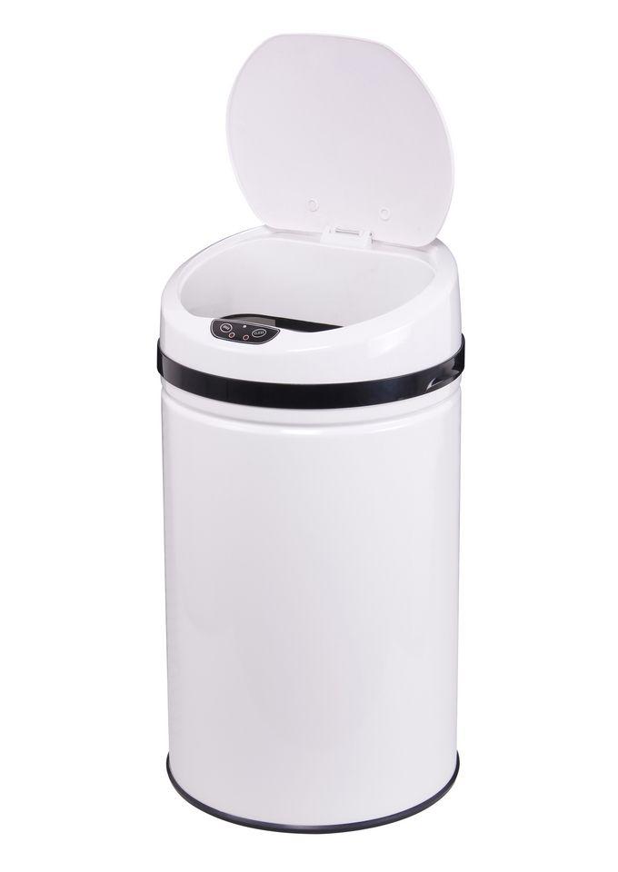 ECHTWERK Edelstahl-Abfalleimer, , »INOX WHITE«, mit Infrarotsensor, 42 Liter