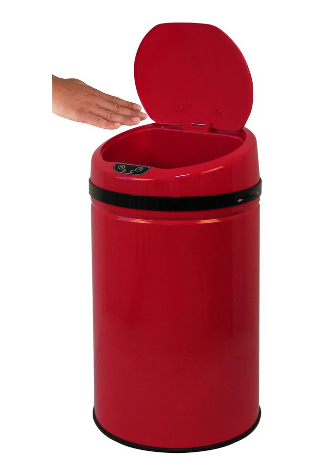 ECHTWERK Edelstahl-Abfalleimer, , »INOX RED«, mit Infrarotsensor, 30 Liter