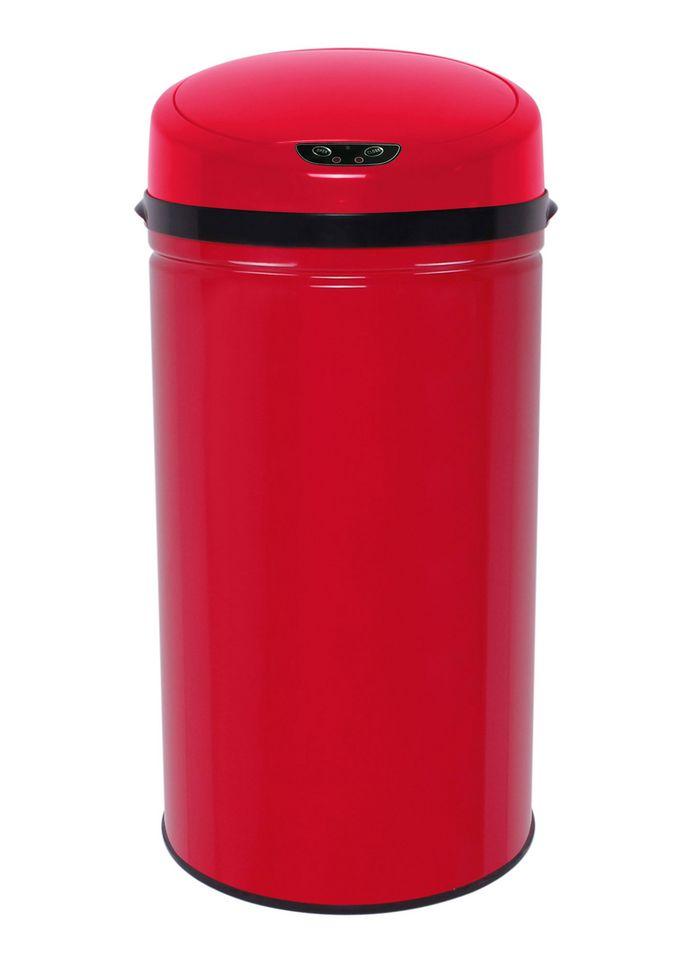 ECHTWERK Edelstahl-Abfalleimer, , »INOX RED«, mit Infrarotsensor, 42 Liter