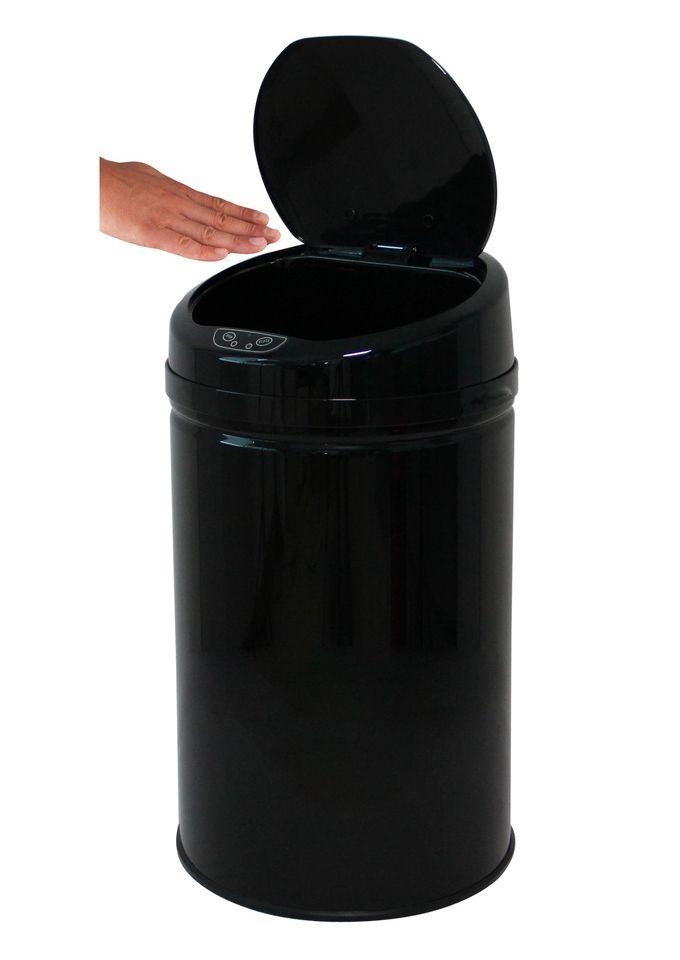 ECHTWERK Edelstahl-Abfalleimer, , »INOX BLACK«, mit Infrarotsensor, 30 Liter