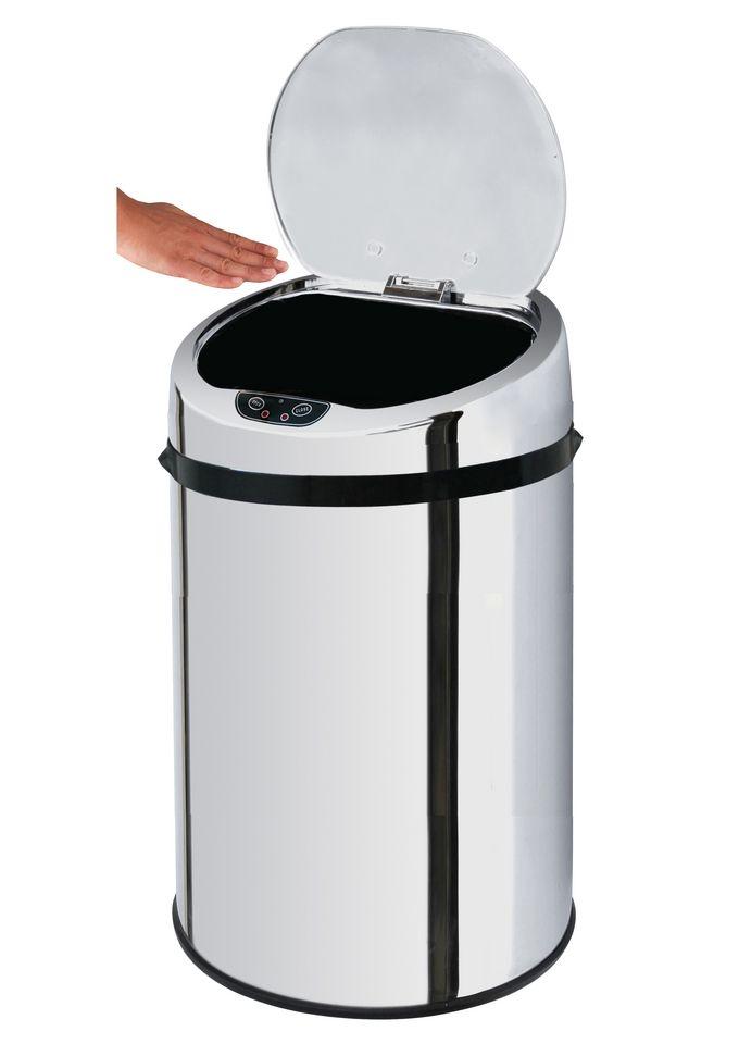 ECHTWERK Edelstahl-Kosmetikabfalleimer, , »INOX«, mit Infrarotsensor, 9 Liter