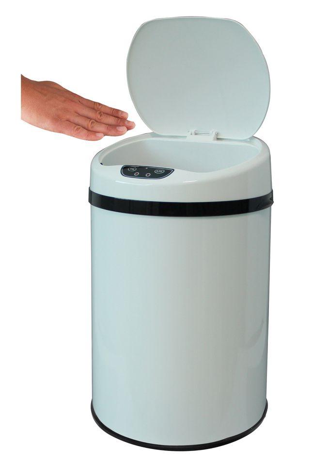 ECHTWERK Edelstahl-Kosmetikabfalleimer, , »INOX WHITE«, mit Infrarotsensor, 9 Liter