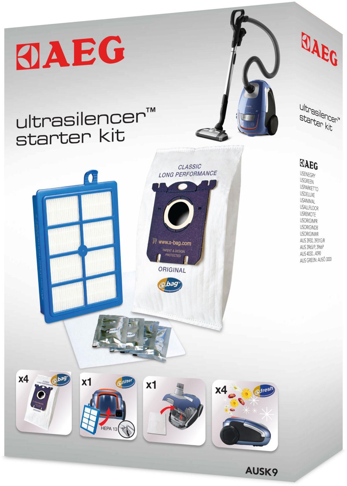 AEG Vorteil-Set AUSK 9, Filter-/Staubbeutel-Set...