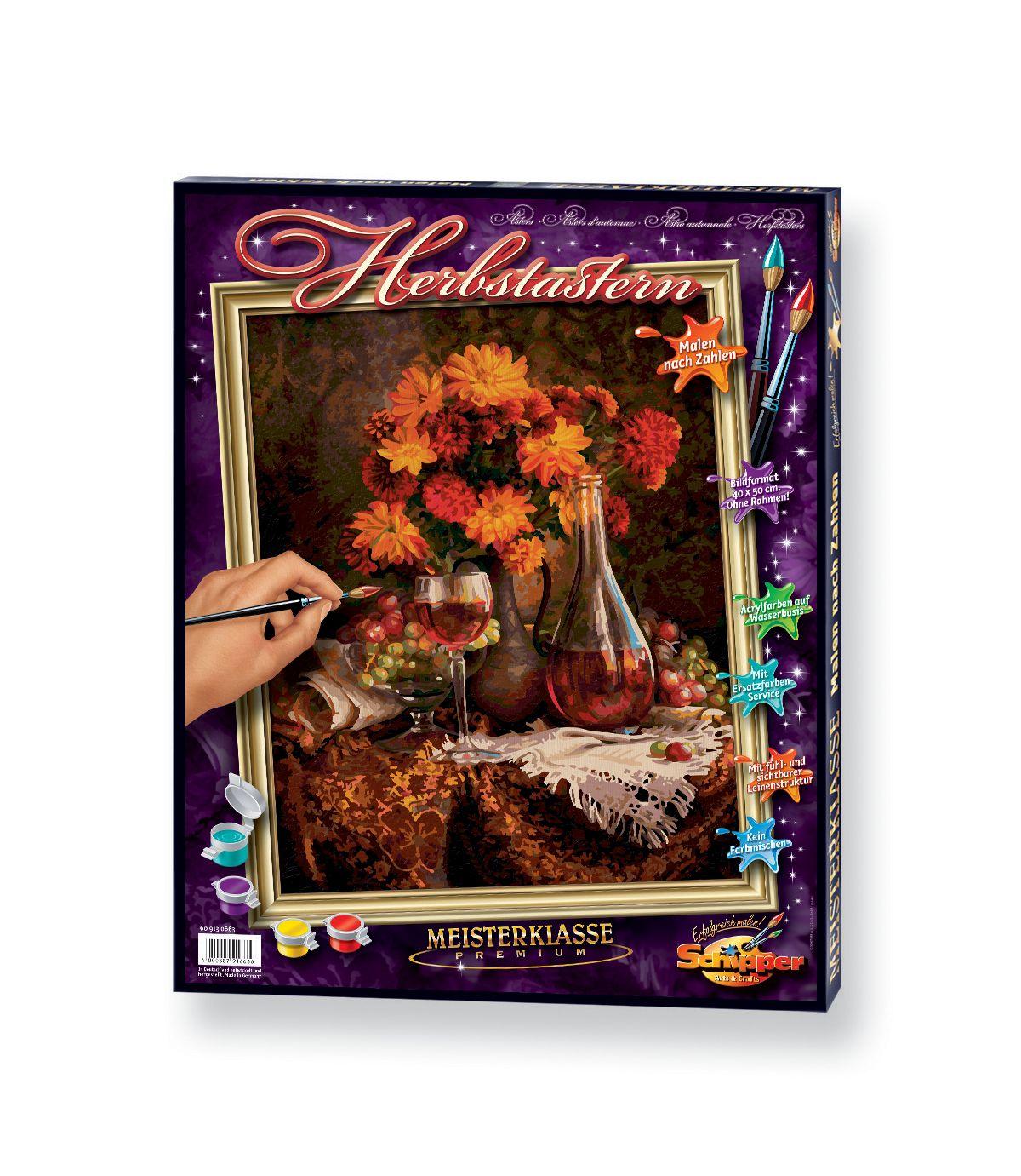 Malen nach Zahlen, »Herbstastern«, Schipper