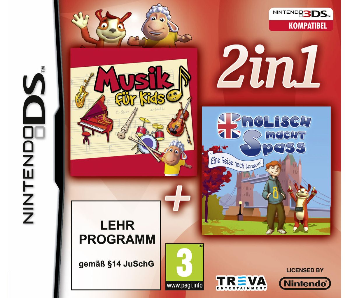 Treva Nintendo DS - Spiel »2 in 1: Lernen - Mus...