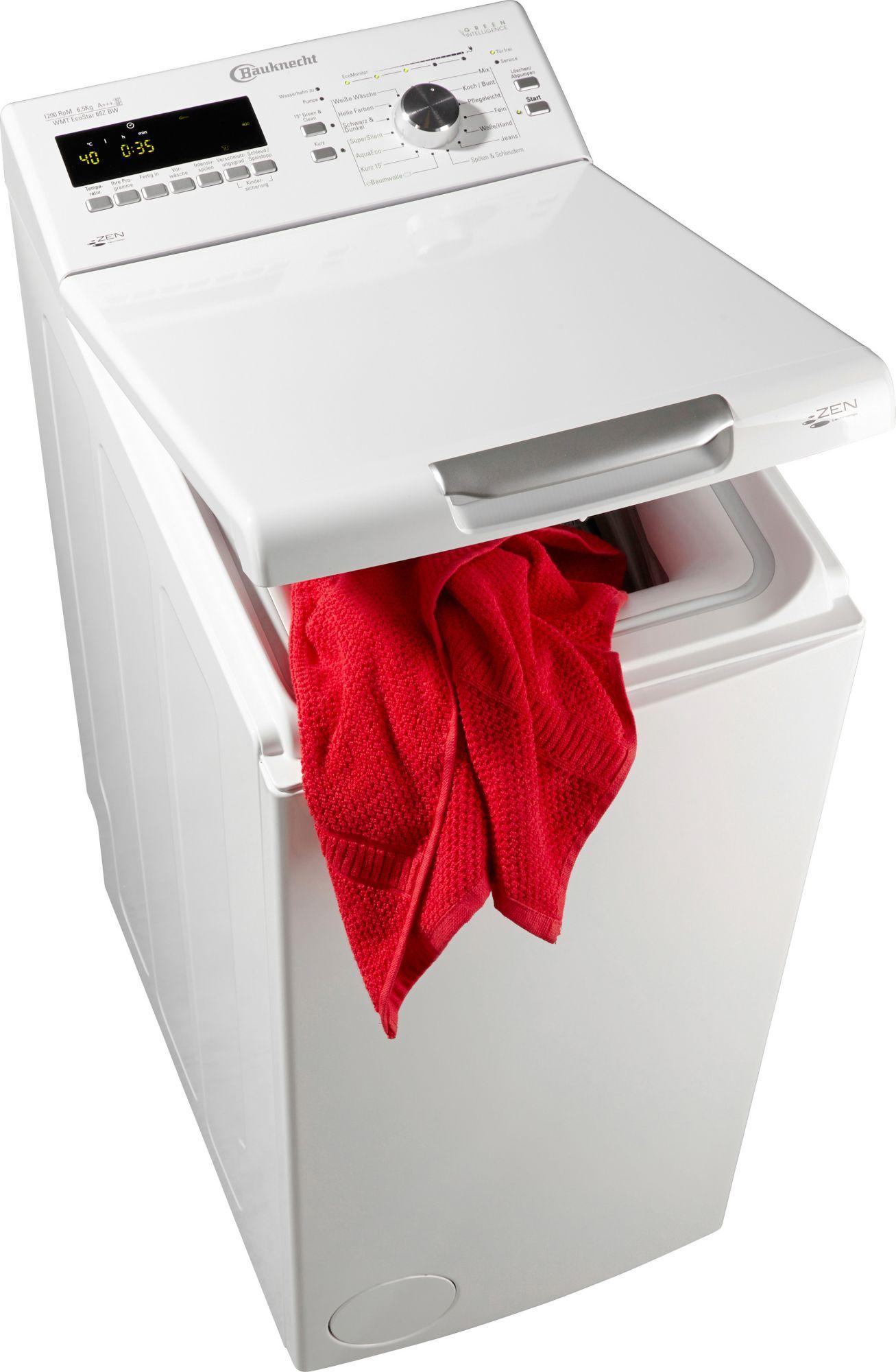 bauknecht waschmaschine toplader wmt ecostar 65z bw a 6 5 kg 1200 u min schwab versand. Black Bedroom Furniture Sets. Home Design Ideas