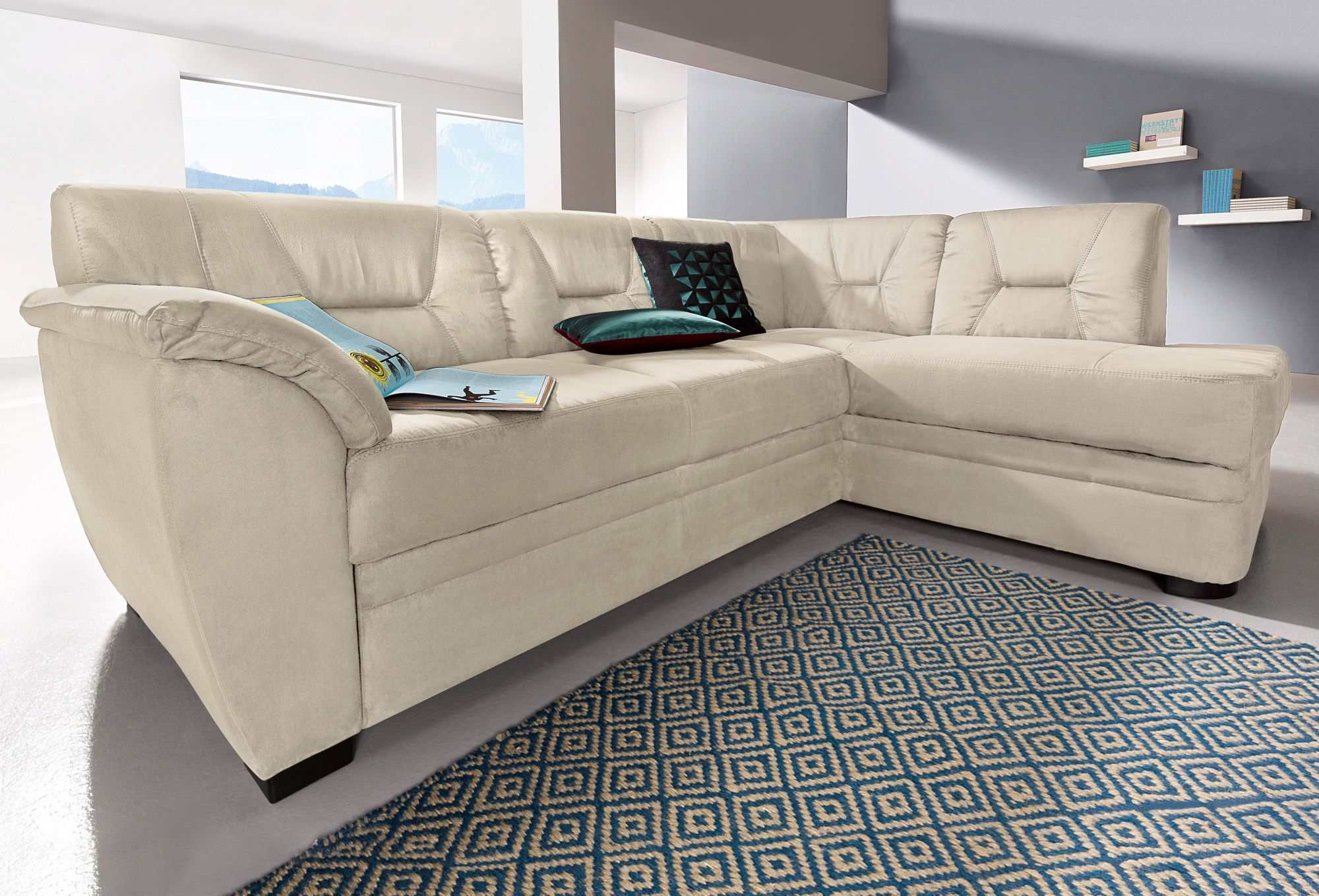 polsterecke cotta microfaser polsterecke cotta wahlweise mit bettfunktion kaufen cnouch. Black Bedroom Furniture Sets. Home Design Ideas