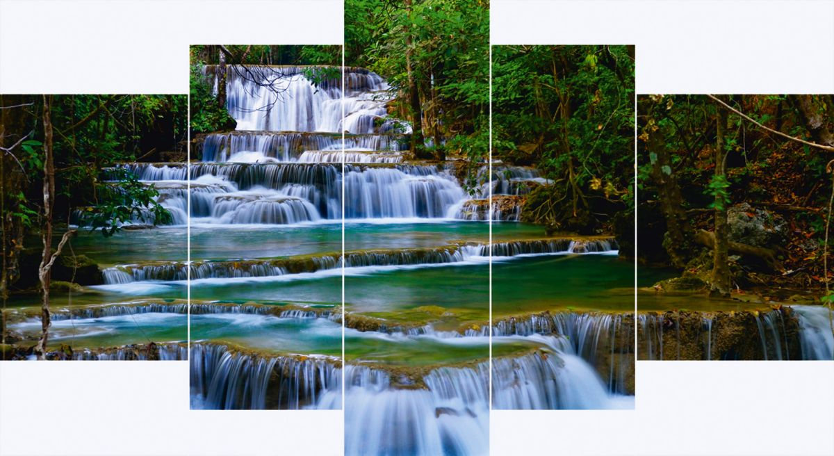 Home affaire, Leinwandbilder, »Wasserfall in Th...