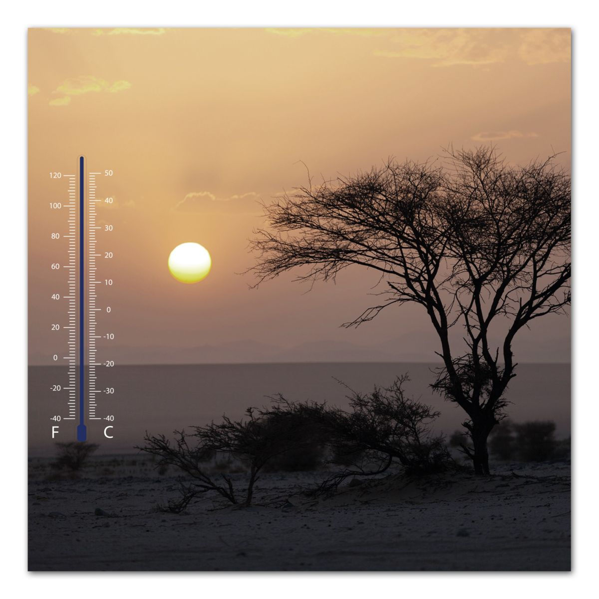Thermometer Bild, Home affaire, »Meer bei Sonne...
