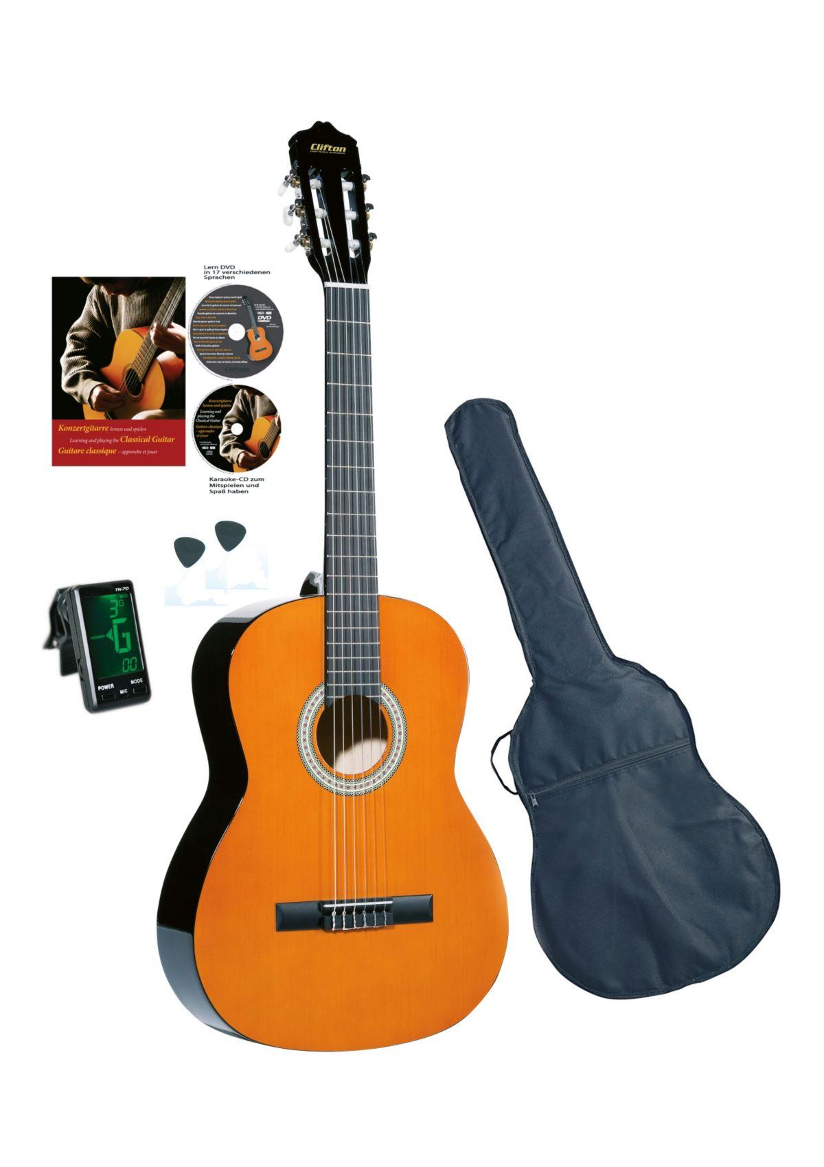 Vorschaubild von Set: Gitarre für Kinder + Zubehör, »Clifton-Konzertgitarre«