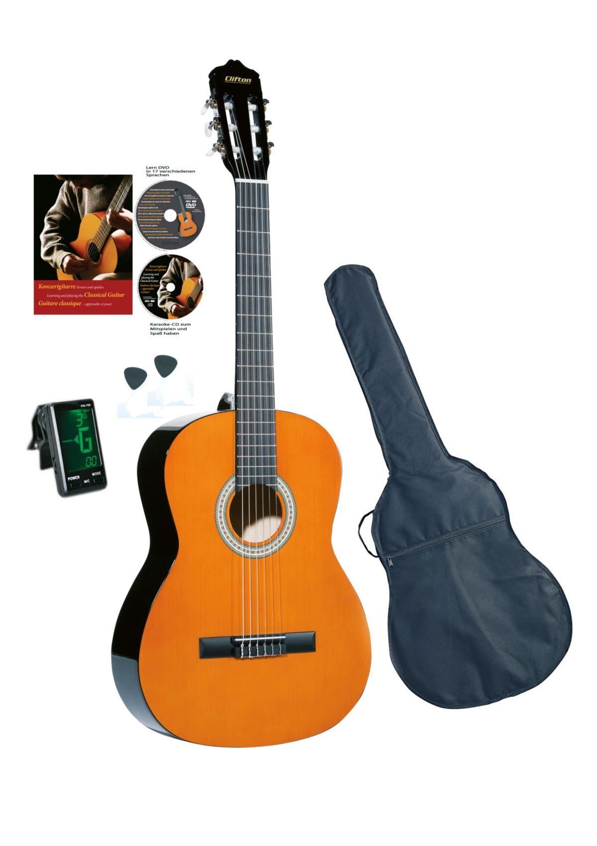 Vorschaubild von Set: Gitarre für Kinder + Zubehör, »Clifton - Konzertgitarre ½«