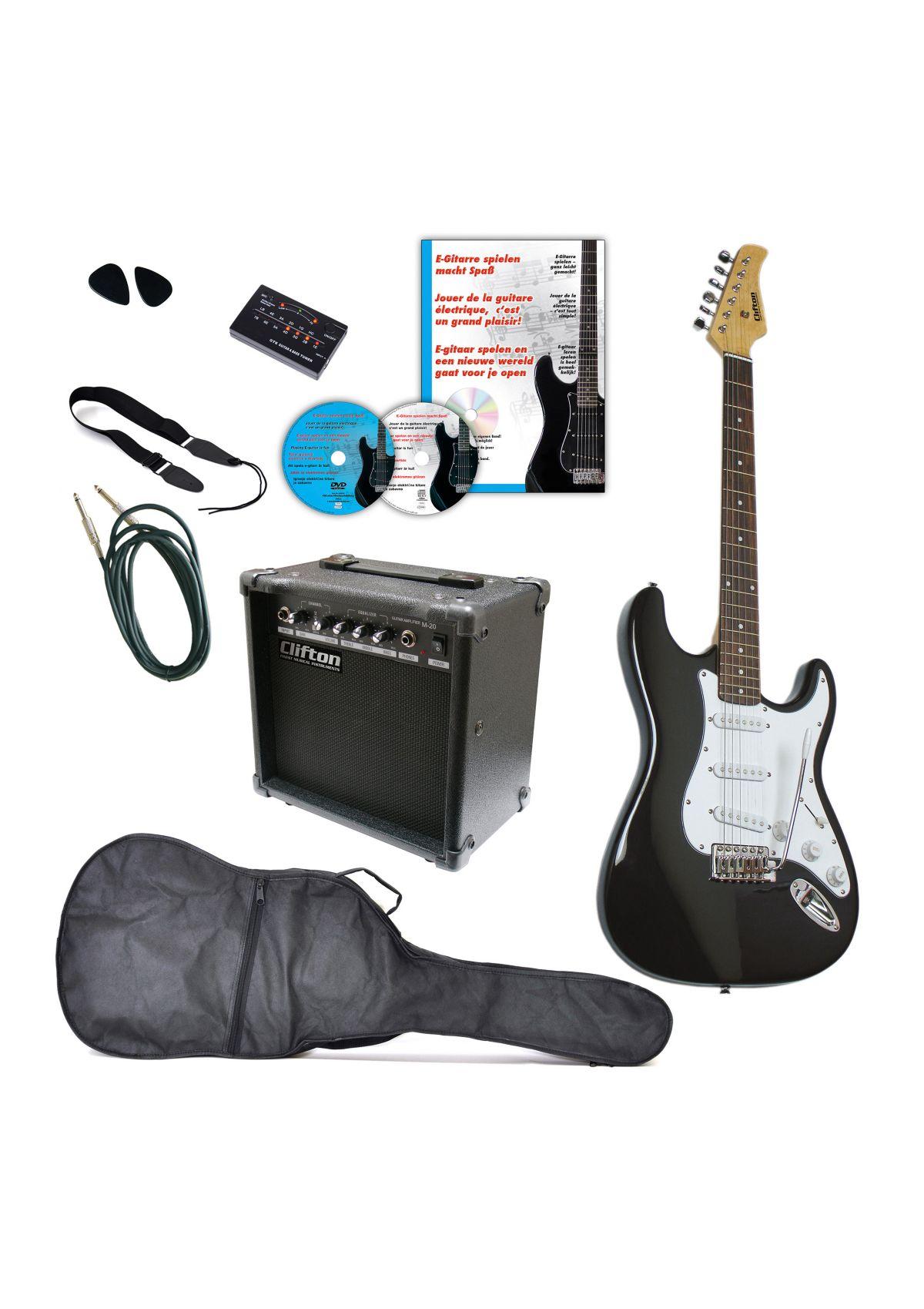 Vorschaubild von Set: E-Gitarre + Zubehör, »Clifton E-Gitarren«