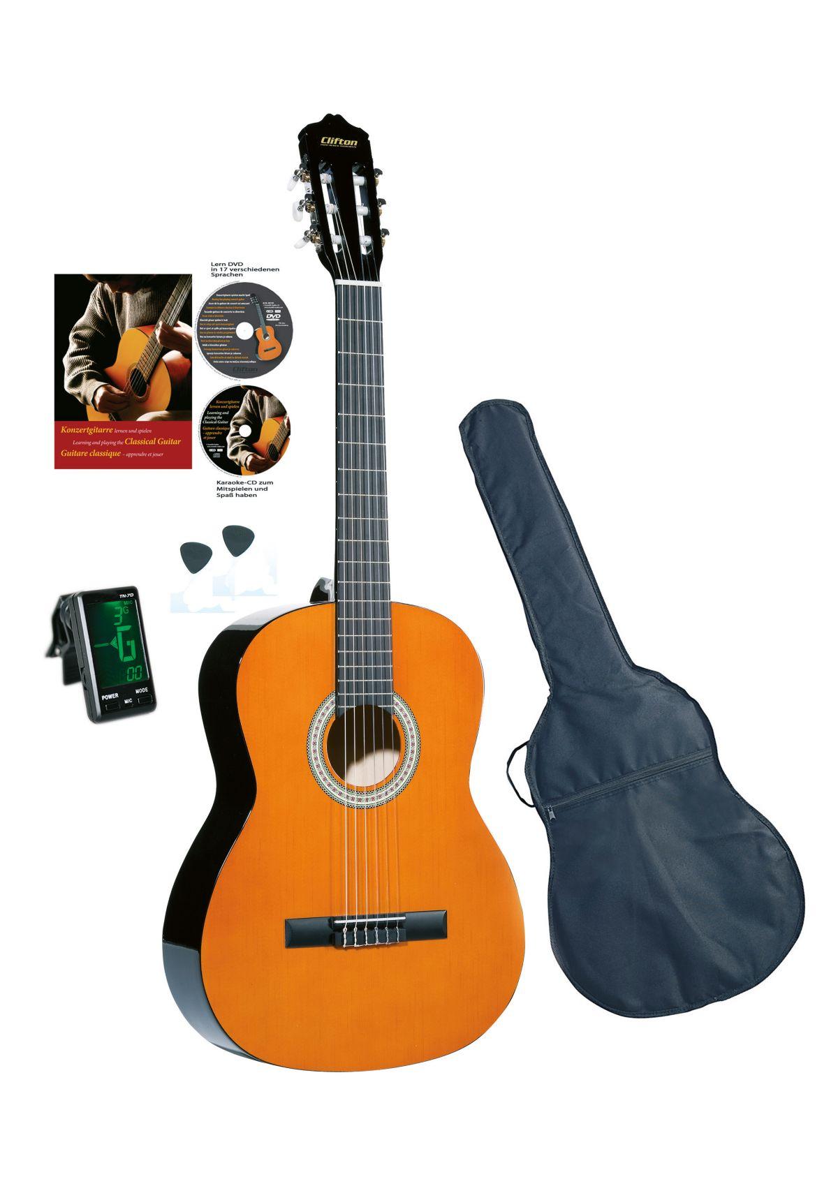 Vorschaubild von Set: Kindergitarre + Zubehör, »Clifton Konzertgitarren ¼«