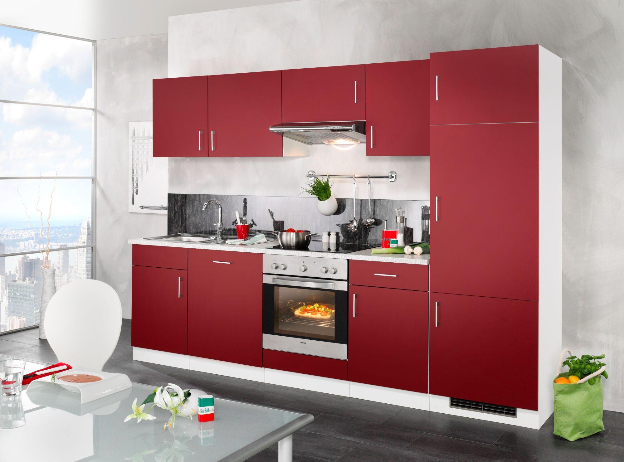 wiho k chen k chenzeile valencia mit elektroger ten set 2 280 cm schwab versand k chen. Black Bedroom Furniture Sets. Home Design Ideas