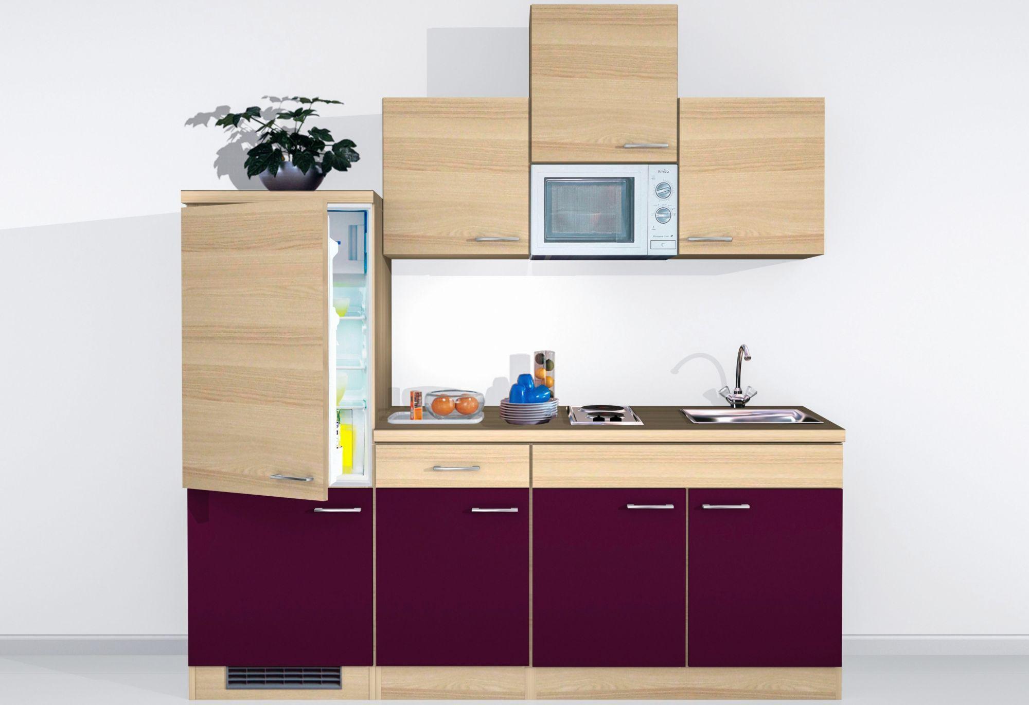 mini k chenzeile mit e ger ten portland breite 210 cm schwab versand k chenzeilen mit ger. Black Bedroom Furniture Sets. Home Design Ideas