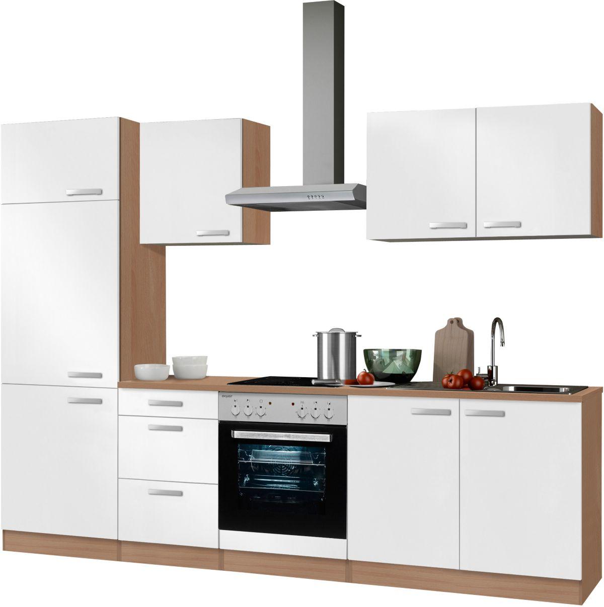 Kuchenzeile mit e geraten optifit odense breite 270 cm for Küchenzeile mit elektroger ten billig