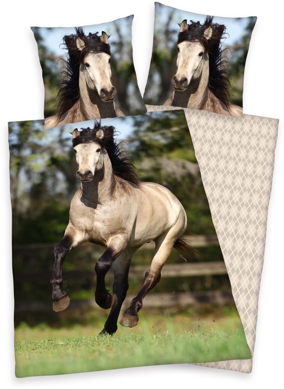 Bettwäsche, Young Collection, »Pferd«, galoppie...