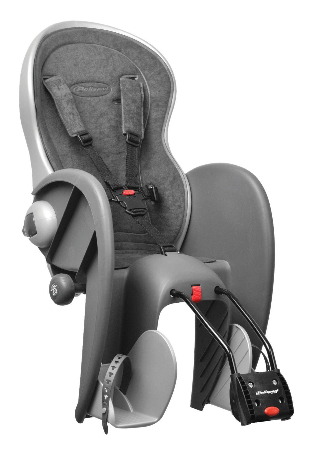 Polisport Fahrrad Kindersitz, grau, »Wallaby Ev...
