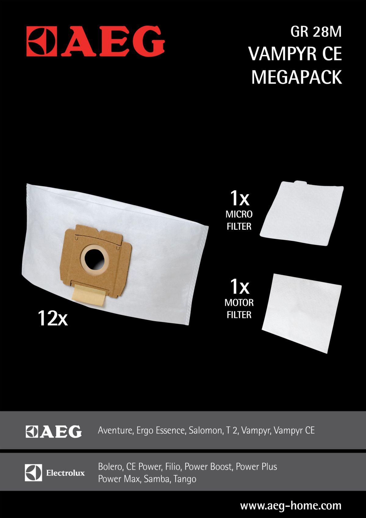AEG Staubsaugerbeutel Gr28 M für Vampyr CE, CE ...