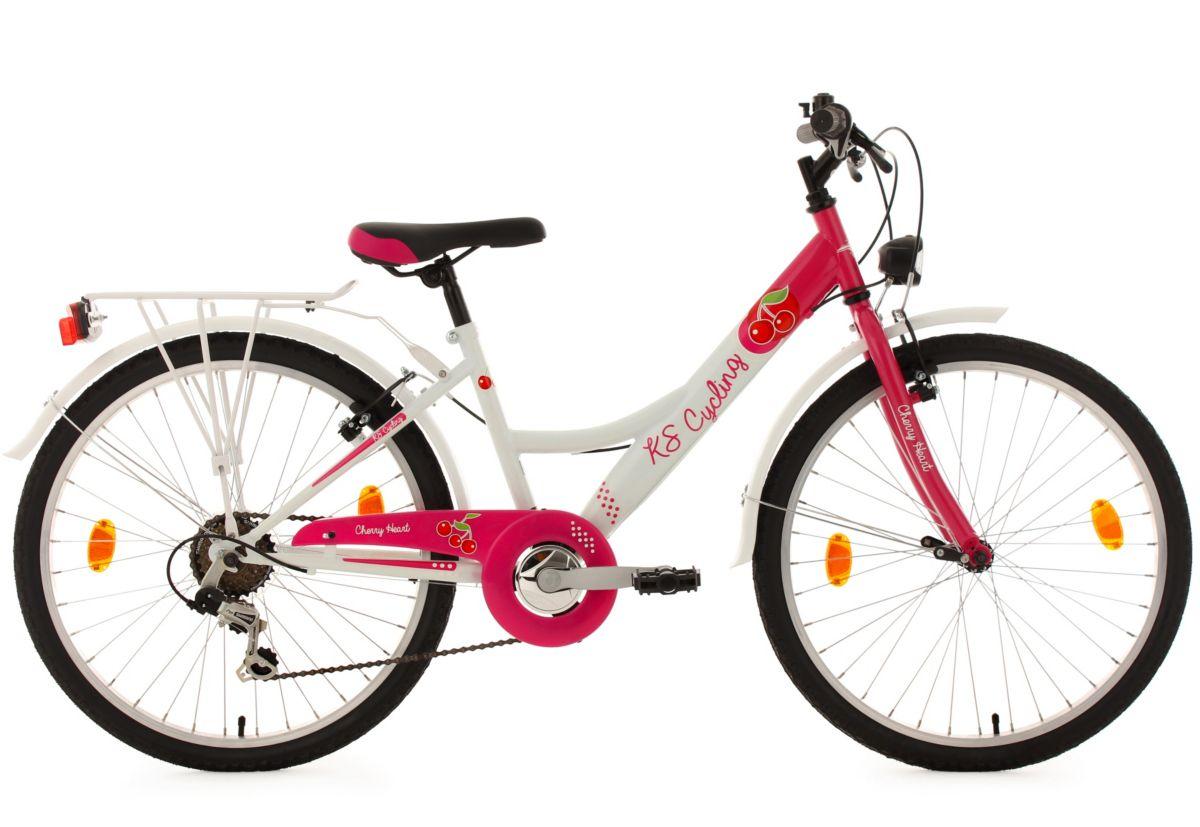 KS Cycling Mädchen Kinderfahrrad, 24 Zoll, weiß...