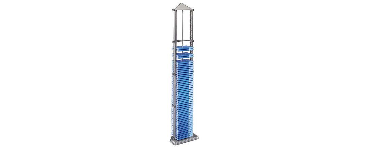 Hama DVD-Turm Pyramid 72, Silber
