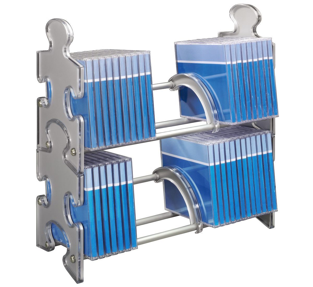 Hama CD-Rack Puzzle 60, Silber