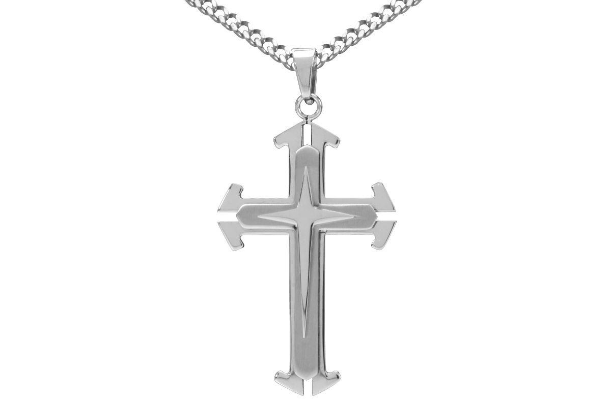 firetti Halsschmuck: Halskette »Kreuz« in Panze...