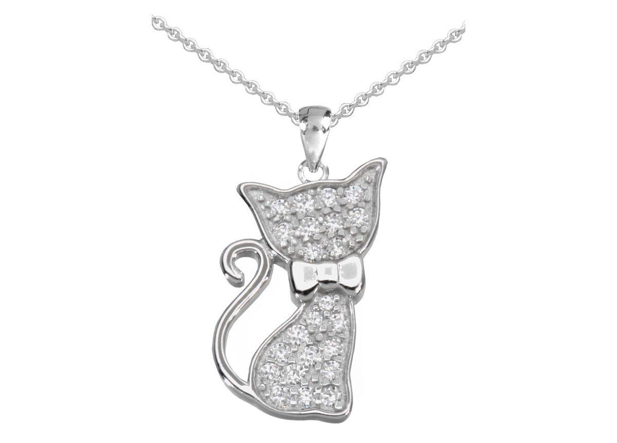 firetti Halsschmuck: Halskette »Katze« in Anker...