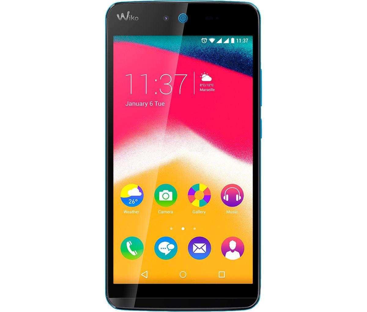 Wiko Rainbow JAM Smartphone, 12,7 cm (5 Zoll) D...