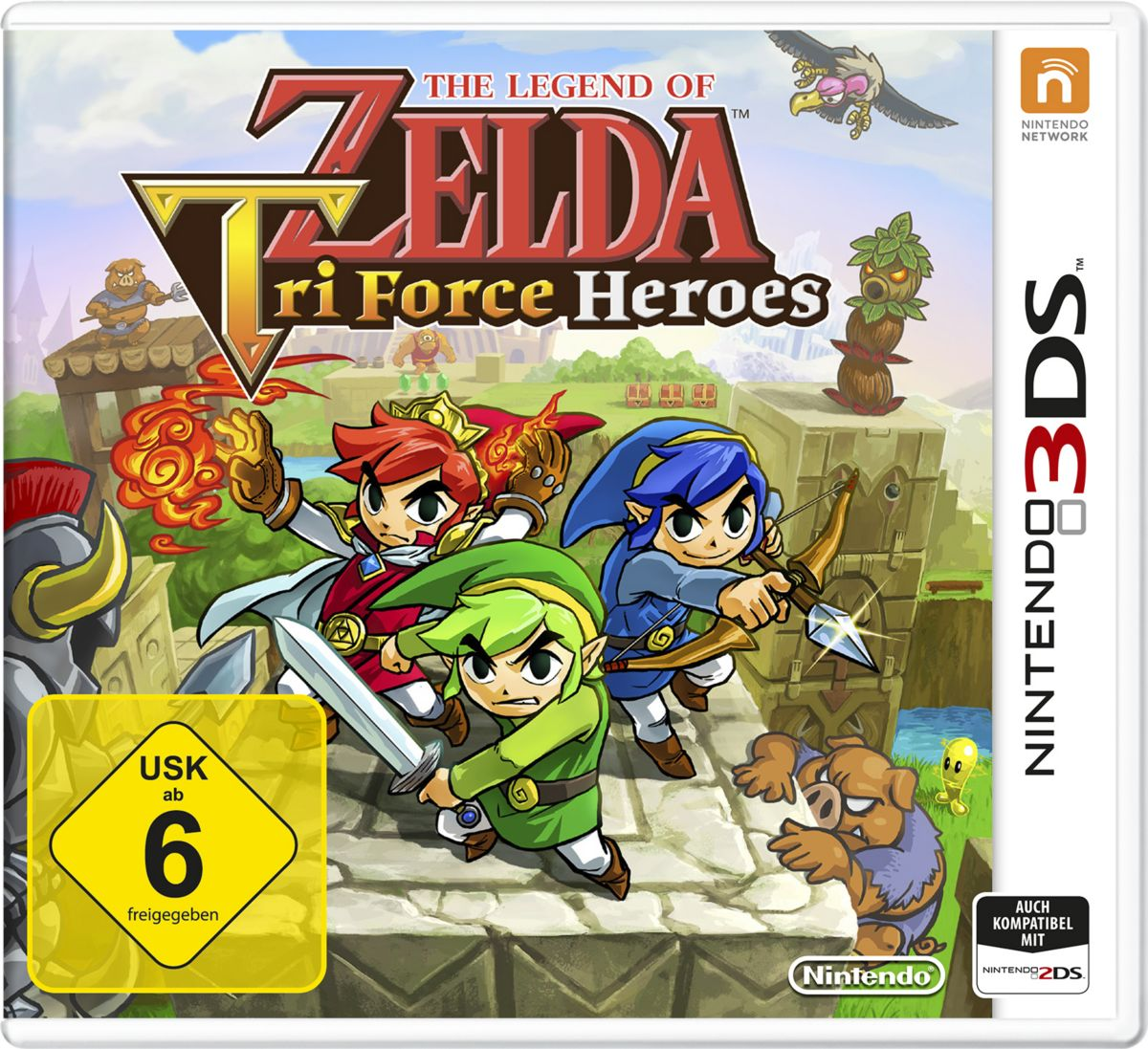 The Legend of Zelda: Tri Force Heroes 3DS Ninte...