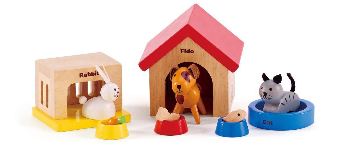 Hape Puppenmöbel, »Haustiere aus Holz für Puppe...