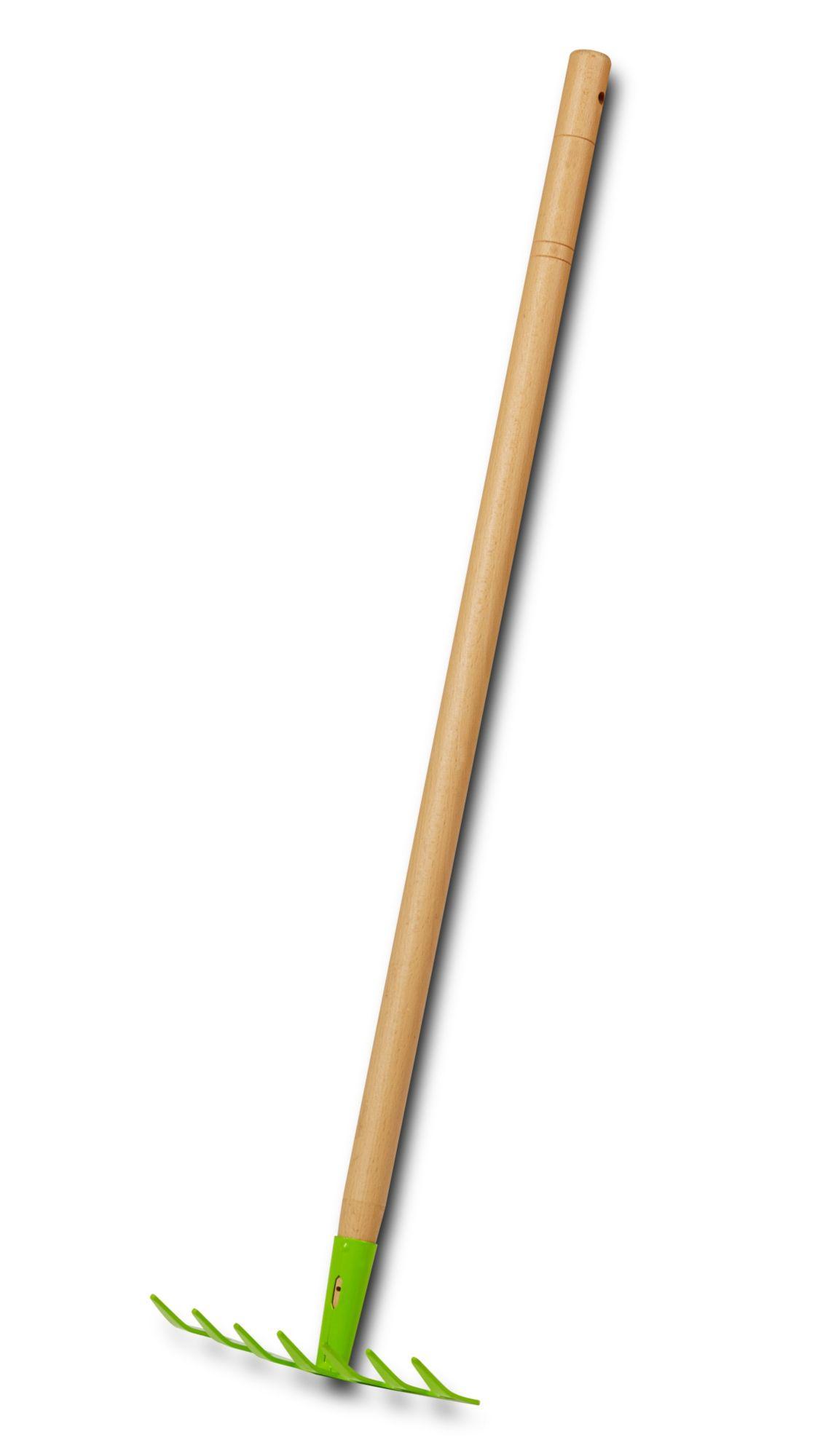 EverEarth® Kinder Rechen Mit Griff Aus Holz