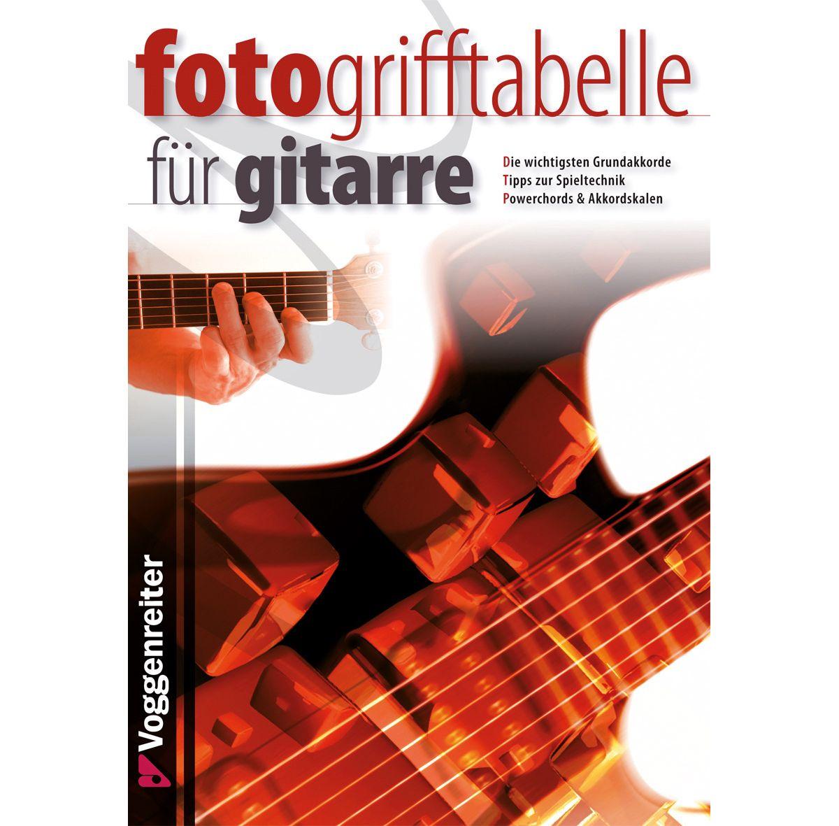 Voggenreiter Musik Tabellenbuch, »Fotogrifftabe...